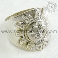925 Silver Jewelry, Sterling Silver Jewelry, Sun Stamped 925 Silver Ring Wholesale RNPS1084-2