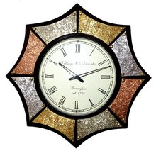 Sun shaped analog wall clock 22X22 inches