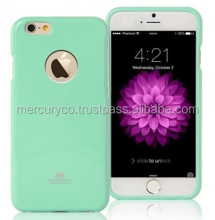 Mercury TPU Jelly case with hole (Mint) tpu phone case