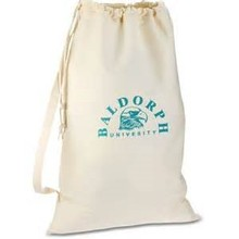 canvas laundry bag with custom design