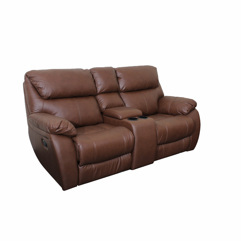 Leather Contemporary Theater Relax Comfortable Recliner Sectional Sofa Set In American Style