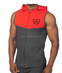 GymShark Style sleeveless zip up hoodie