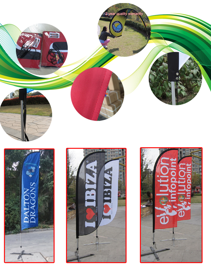 Flying Style and Polyester Flags & Banners Material Feather Flags