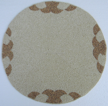 Indian glass beaded placemats designer round beaded placemat np676