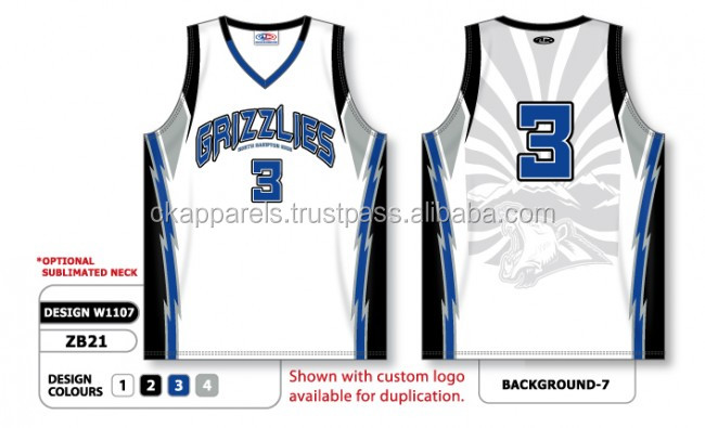 New Custom Sublimated Basketball Jersey
