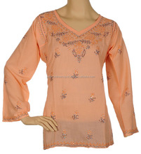 Buy Online Cotton Chicken Design Kurti / Tunic