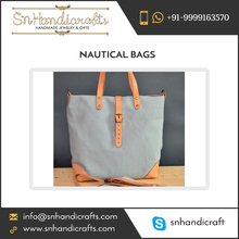 100% Natural no synthetic chemicals Pure Nautical Cotton Fabric Bag at Low Rate