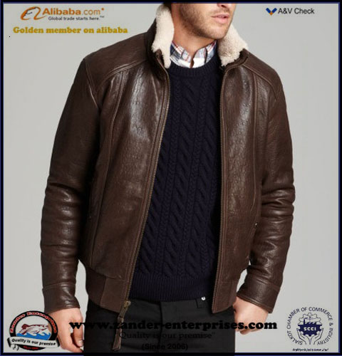sheep leather good mill thickness jackets for men