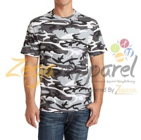 Zega Apparel high quality 100%cotton camouflage tshirt/2016 the lastest design for man t-shirt/O-neck long tee shirt
