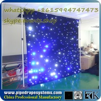 fire protection cloth led video star curtain p5
