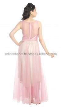 fashion long net a-line wedding reception dress