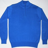 Men S Flat Knitted Pullover Mock
