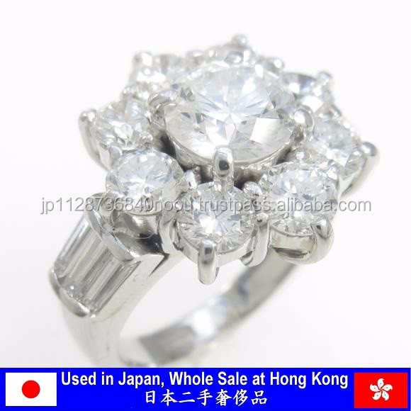 Luxury used diamond ring jewelry for wholesale from Japanese supplier
