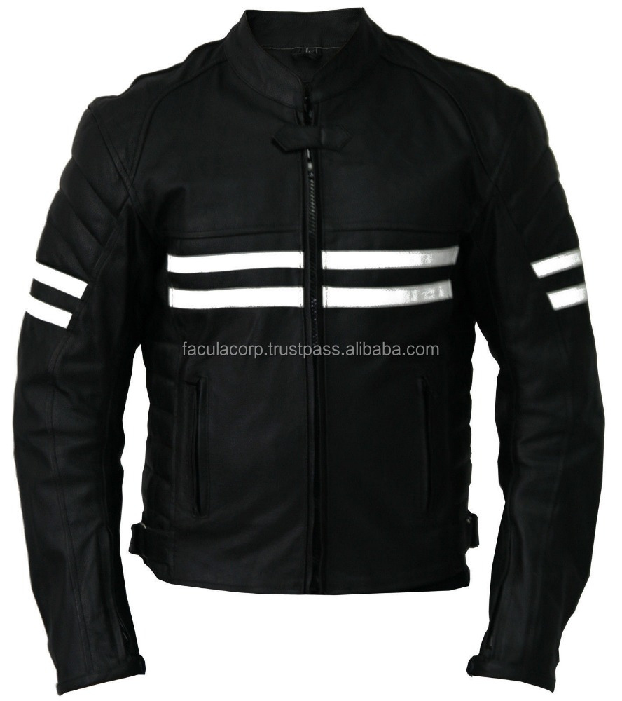 NEW MOTORBIKE LEATHER SPORTS JACKET RACING BIKER JACKET CE ARMOUR ALL SIZES FC-16935