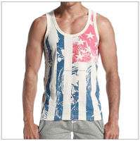 2016 Summer hot sale fitness 100% cotton singlets dri fit man tank top alibaba India