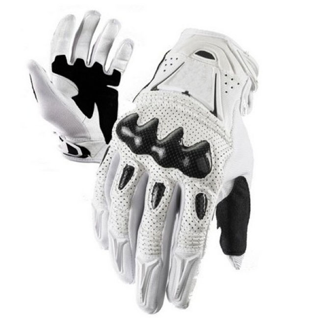 White Motor Cross Gloves