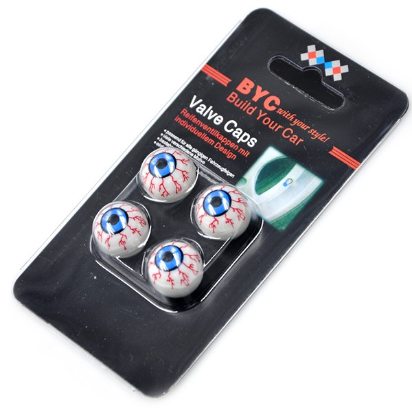 Special Eye Ball Design Car Tire Valve Cap 4 pcs Set