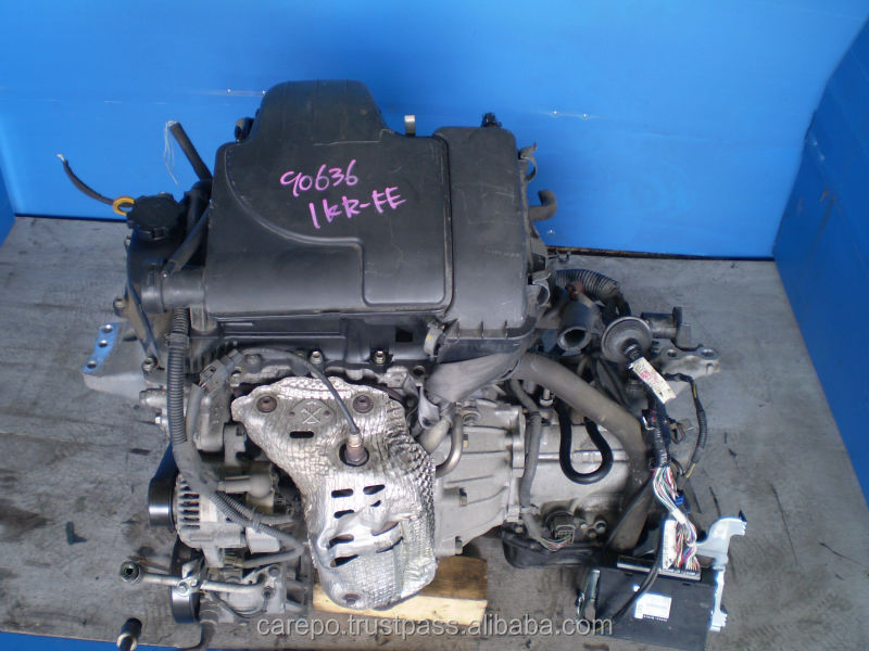 USED ENGINES FOR SALE IN JAPAN 1KR FOR TOYOTA VITZ, PASSO, BELTA, ETC.