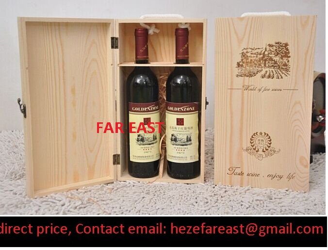 wood wine box / paulownia wood wine box/ pine wood wine box