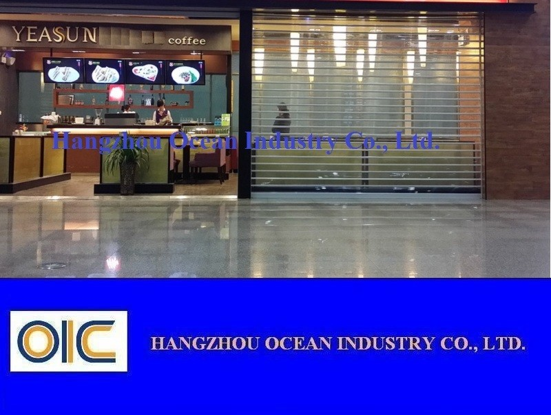 Transparent Rolling Shutter Door, Crystal Shutter Door