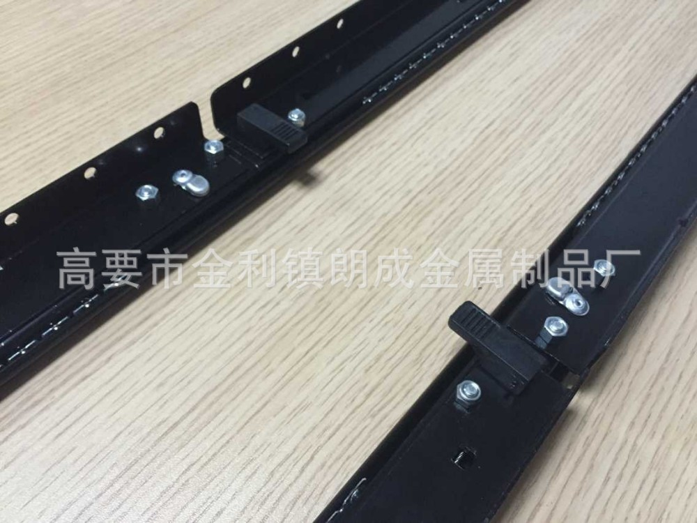 Extendable metal table slide zinc plating hardware