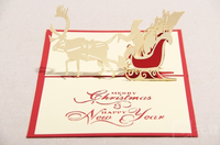 Wholesale 3d cut paper new year christmas greeting card on sale