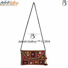 Women Handbag Ethnic Designer Mirror Work Banjara Shoulder Bag Stylish Indian Handmade Purse For Women And Girl