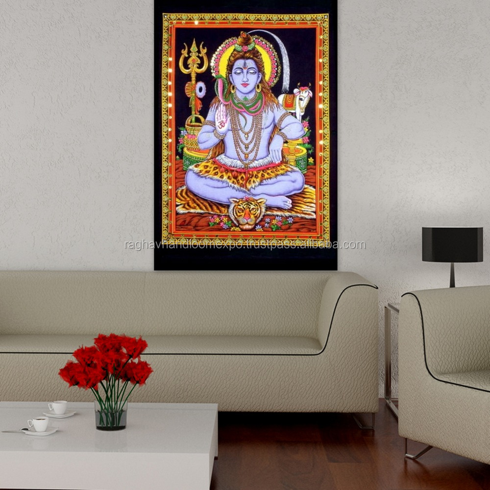 Handwork Traditional God shiva shiv shankar Indian Wall Hanging Tapestry for home decor