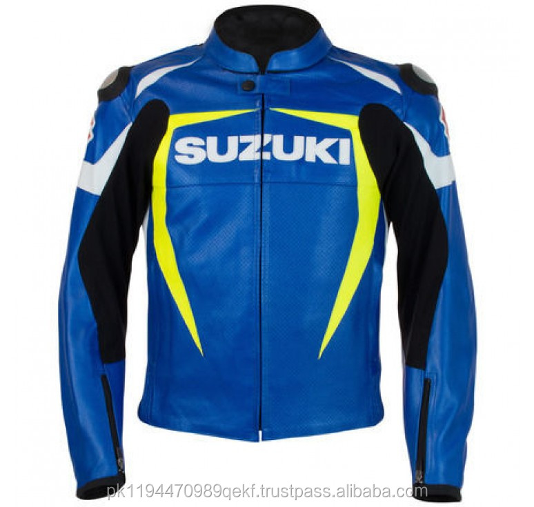 SUZUKI Motorbike Racing Leather Jackets /SUZUKI leather jacket