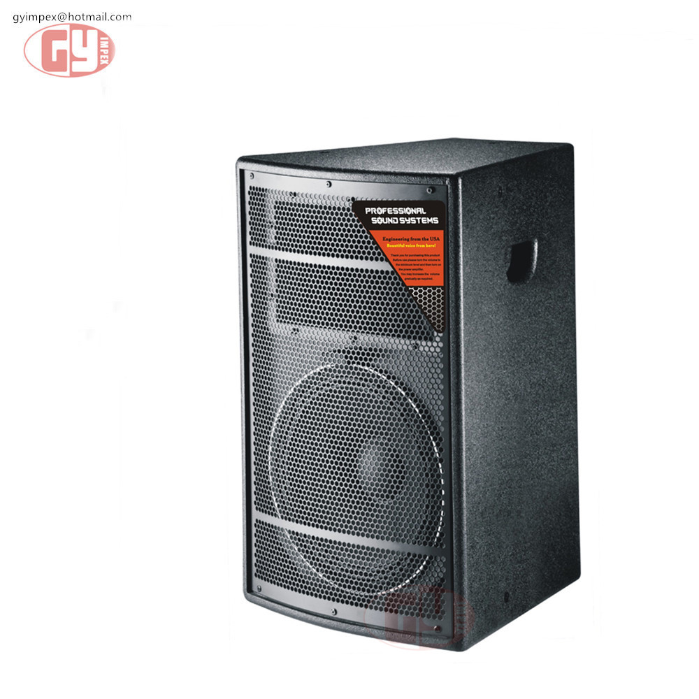 15 inch two way full range professional subwoofer speaker box