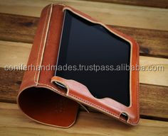 custom made leather tablet covers available with logo print and embossing