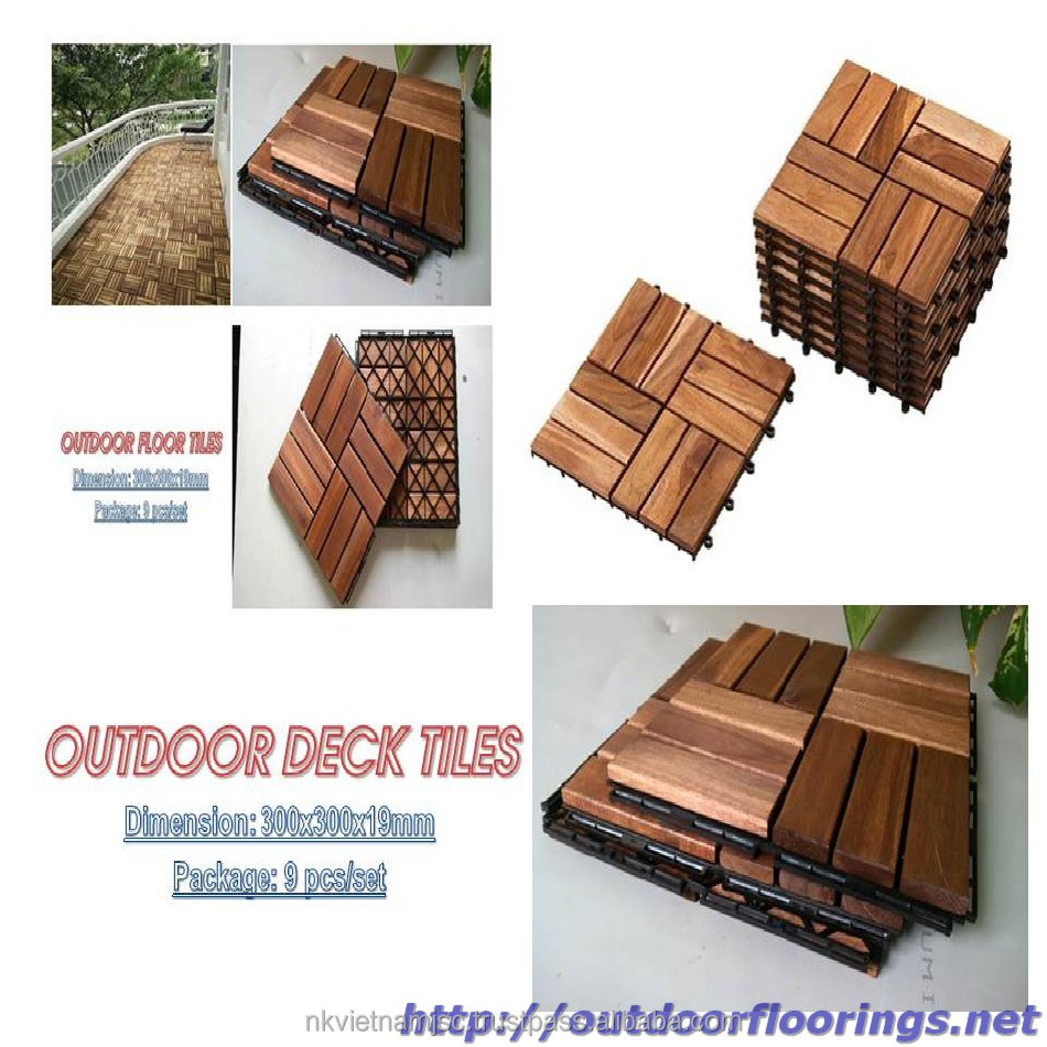 Wooden Floor for Outdoor Furniture/Interlocking DIY deck Tile New Designs 2017