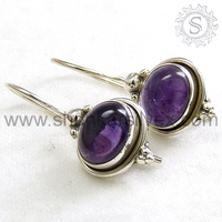 Best Design Amethyst 925 Sterling Silver Jewellery Earring ERCB1430-4