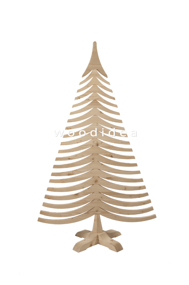 ALBERT 150 cm Made in Italy Wooden Christmas Tree - Christmas Decoration Indoor & Outdoor
