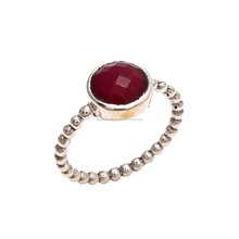 The Gopali Jewellers Dyed Ruby Gemstone Rings, Simple Rings
