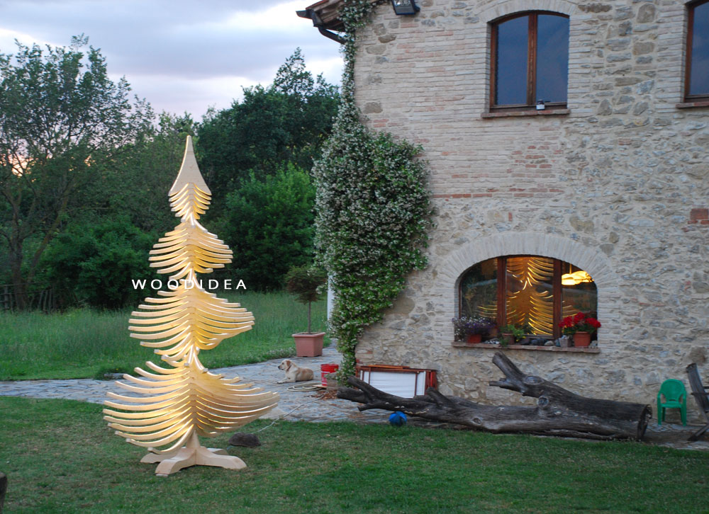 ALBERT Big 400 cm Giant Christmas Tree - Made in Italy Wooden Outdoor Christmas Decoration