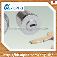 Key Chain Lock for vending machines and coin machines, stainless steel product made by ALPHA JAPAN for sale