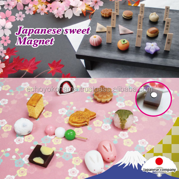 Traditional and Beautiful souvenir fridge magnet with Attention made in Japan