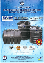 PE BIO-FILTER WASTE WATER TREATMENT SYSTEMS ( SEPTIC TANK)
