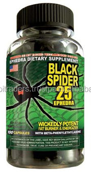 Black Spider Fat Burner By Cloma Pharma, 100 Caps