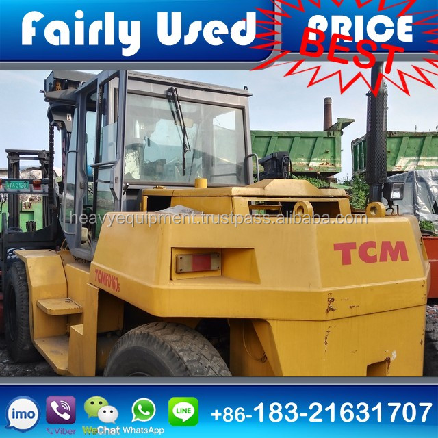 Used 15 ton TCM forklift FD150, secondhand TCM diesel forklift 15ton, used TCM electric forklift 15 ton for sale