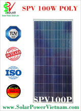 Vietnam Wholesale 100w poly solar panel cheap price