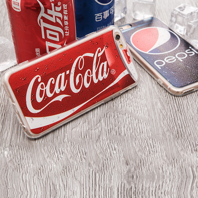 New arrive cooldrink pattern model protective phone case for iphone5/6/6plus
