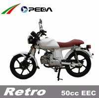 (PEDA Motor) 2016 Hot 50cc EEC Motorcycle for Sale COC Low Cost Vintage Style 17 inch tire (Retro)