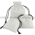 linen party favor bags with jute drawstring