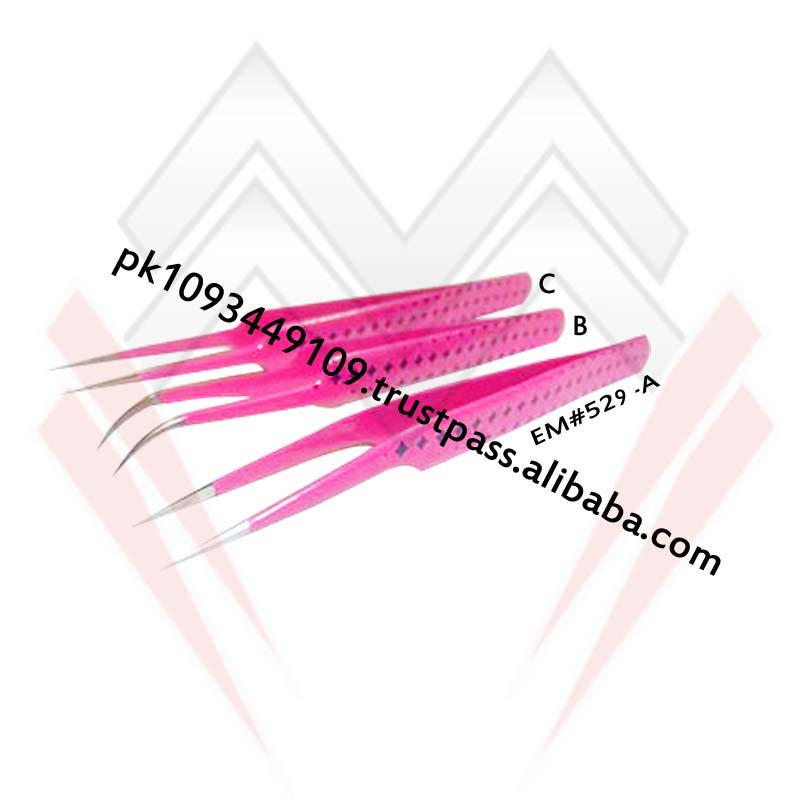 Pink Star Color Eyelash Extension Tweezers / Different Style Eyelash Extension Tweezers MARIG SURGICAL CO