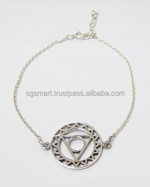 Silver 925 Chakra Bracelet Jewelry Design Wholesale Factory in Thailand