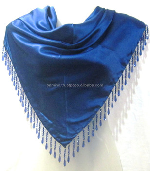 2017 latest Premium quality Satin plain triangle scarfs from India