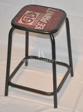 Vintage Industrial Stool Recycled Tin Seat