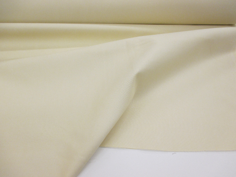 "54"" Ivory twill weave Polycotton Curtain Lining Fabric. (Regular supply item)"